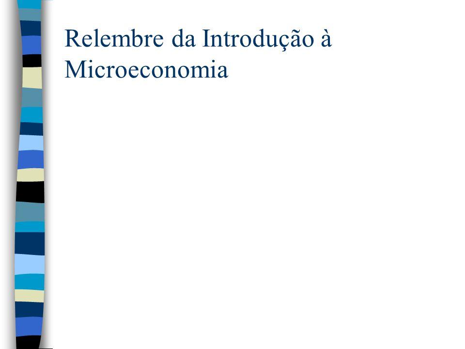 Relembre da Introdução à Microeconomia