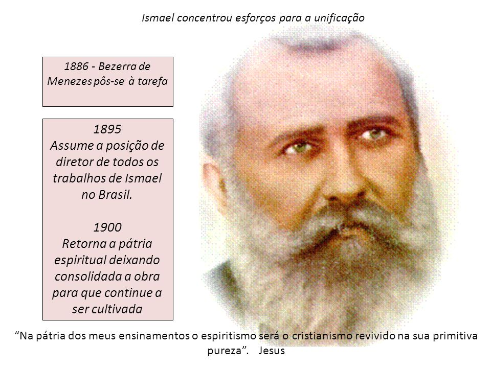 Assume a posição de diretor de todos os trabalhos de Ismael no Brasil.