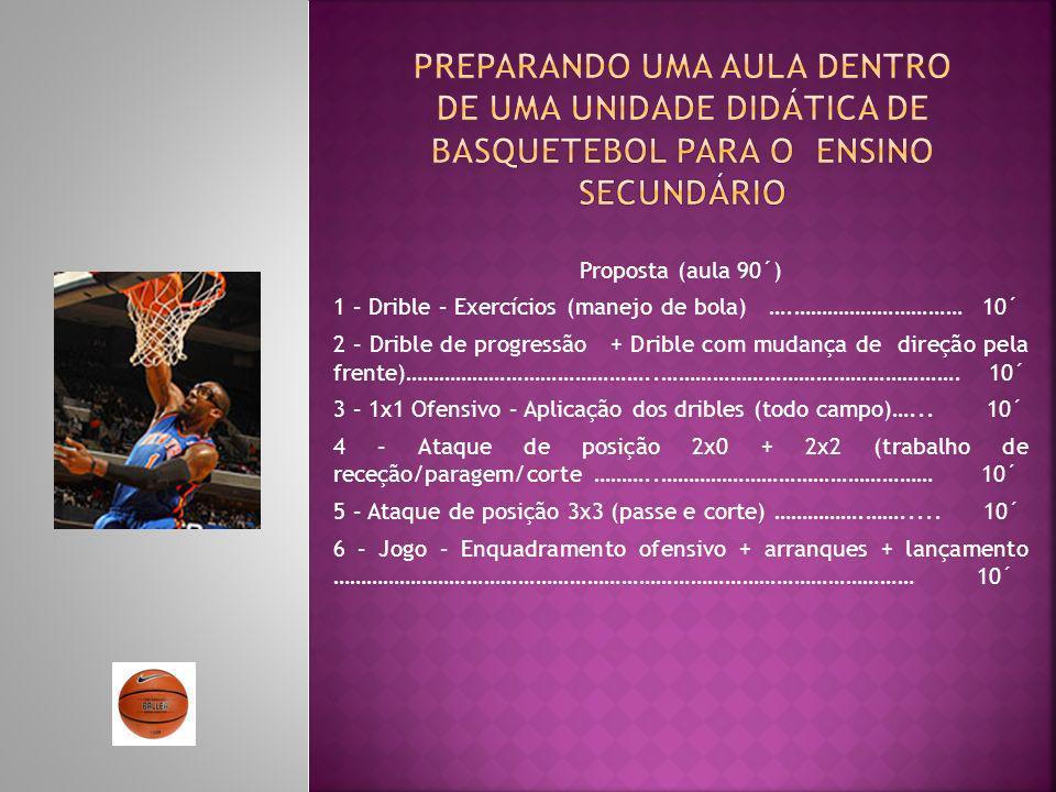 Preparando uma aula dentro de uma unidade didática de basquetebol para o ensino Secundário