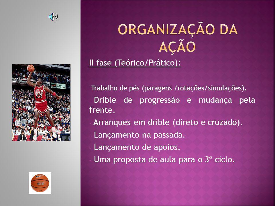 Organização da ação II fase (Teórico/Prático):
