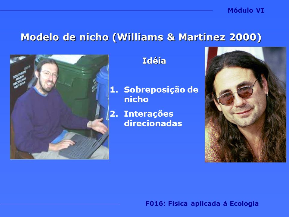 Modelo de nicho (Williams & Martinez 2000)