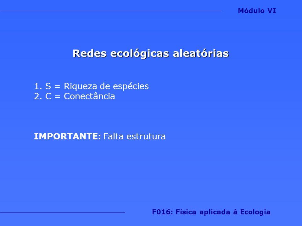 Redes ecológicas aleatórias F016: Física aplicada à Ecologia