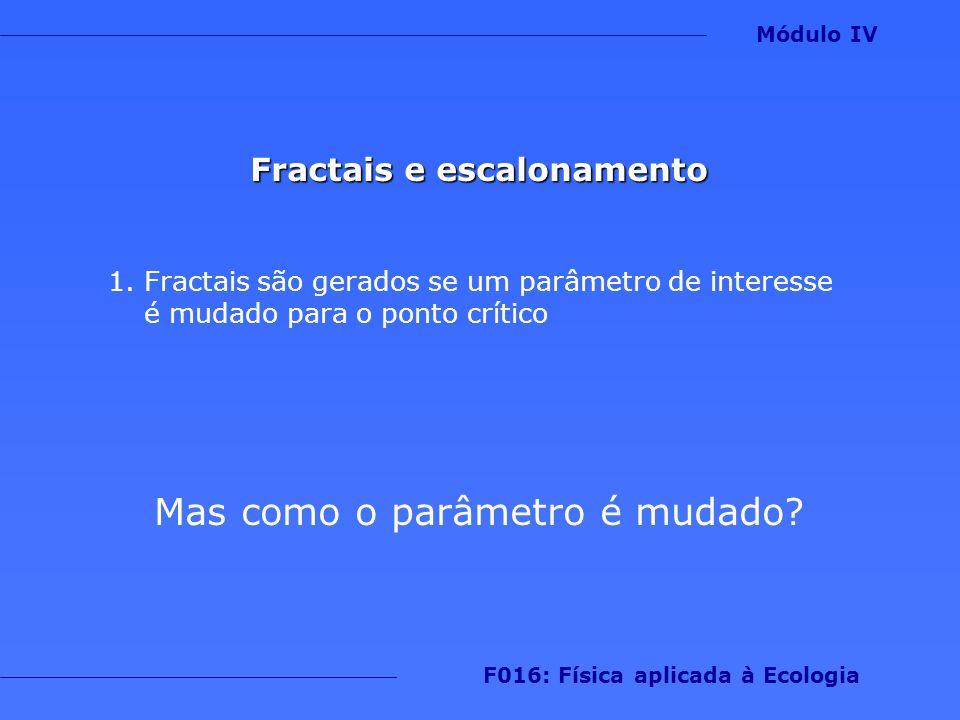 Fractais e escalonamento F016: Física aplicada à Ecologia