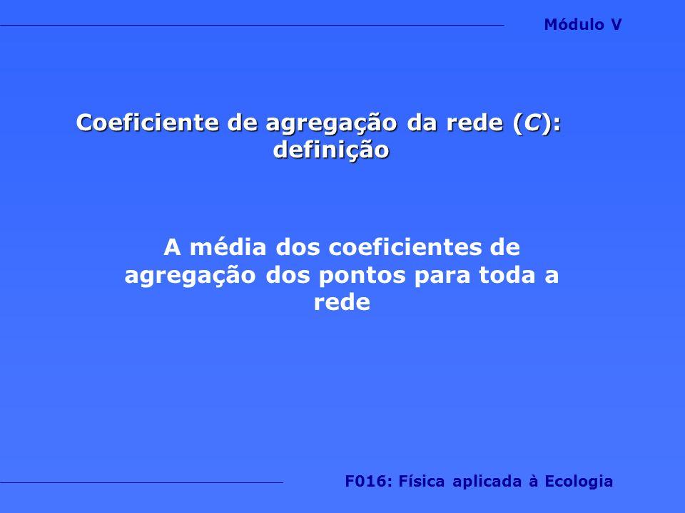 Coeficiente de agregação da rede (C): definição