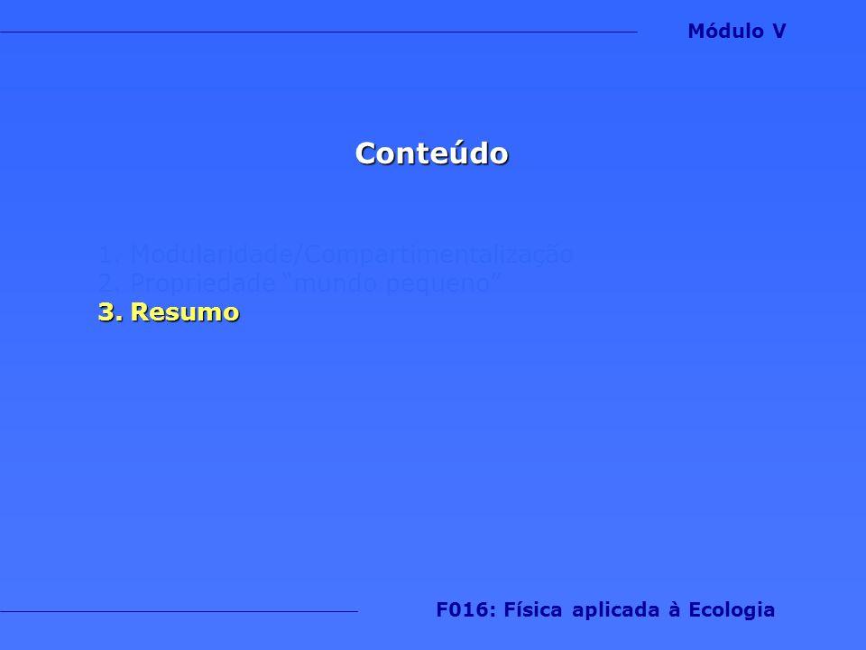 F016: Física aplicada à Ecologia