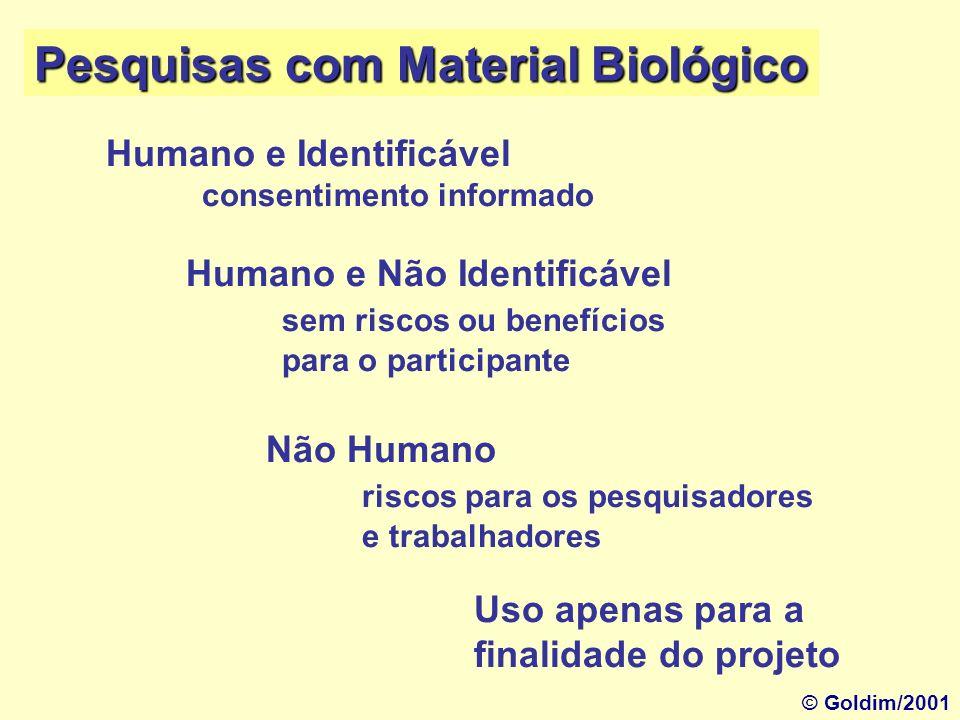 Pesquisas com Material Biológico