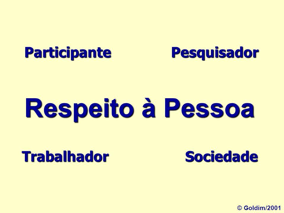 Respeito à Pessoa Participante Pesquisador Trabalhador Sociedade