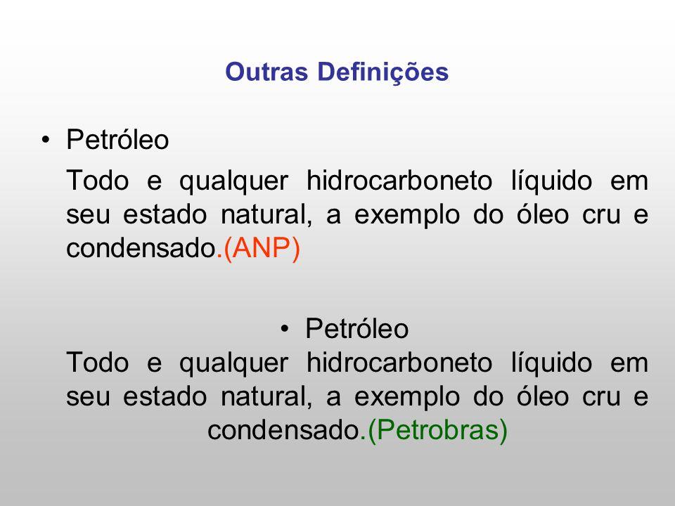 Outras Definições Petróleo. Todo e qualquer hidrocarboneto líquido em seu estado natural, a exemplo do óleo cru e condensado.(ANP)