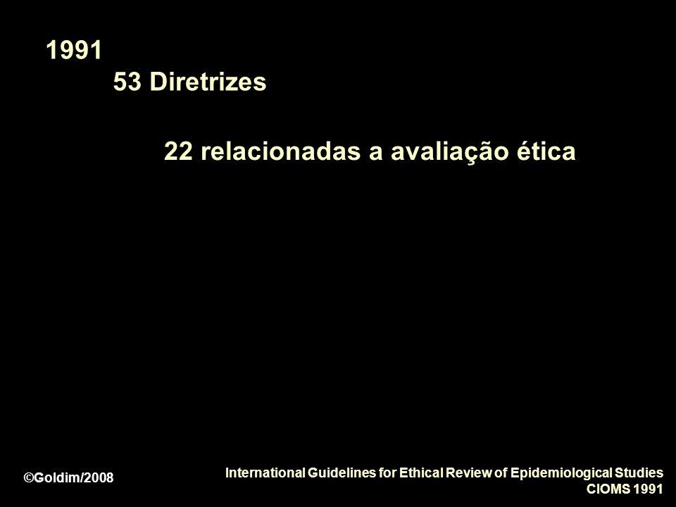 22 relacionadas a avaliação ética
