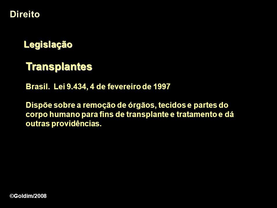 Transplantes Direito Legislação