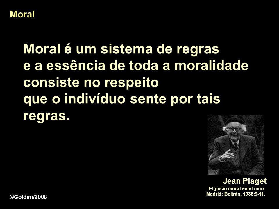 MoralMoral é um sistema de regras e a essência de toda a moralidade consiste no respeito que o indivíduo sente por tais regras.