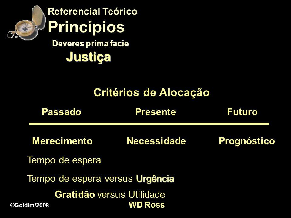 Princípios Justiça Critérios de Alocação Referencial Teórico