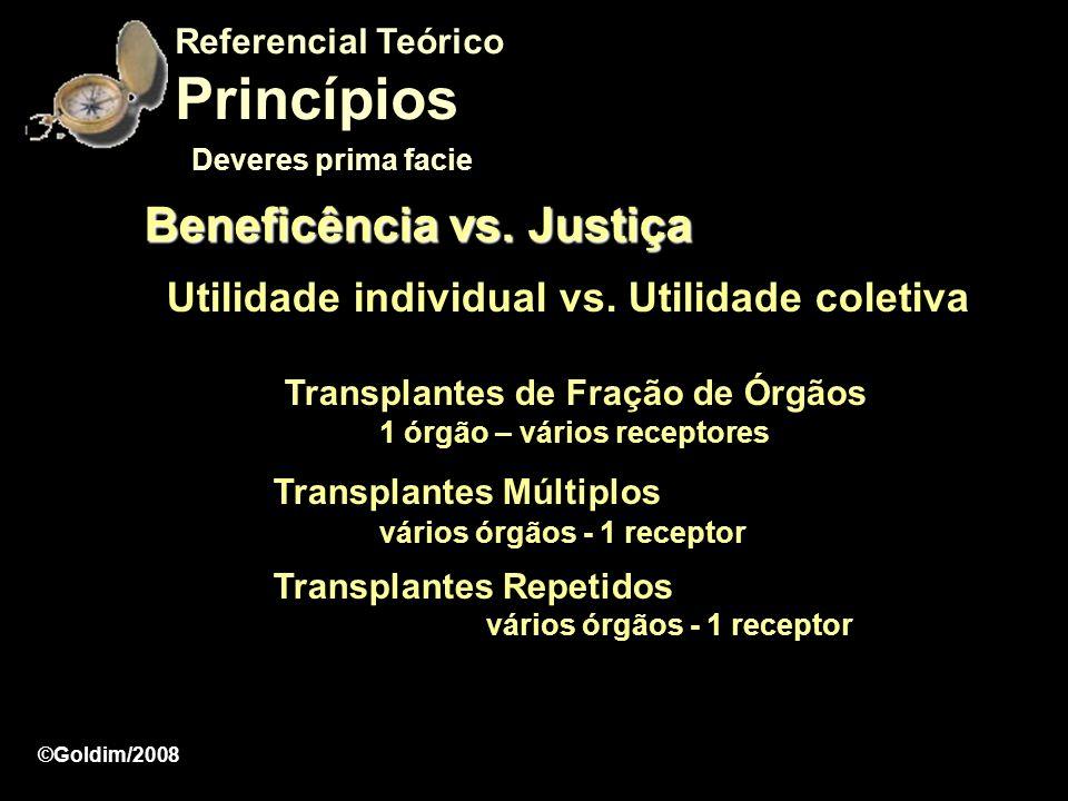 Princípios Beneficência vs. Justiça