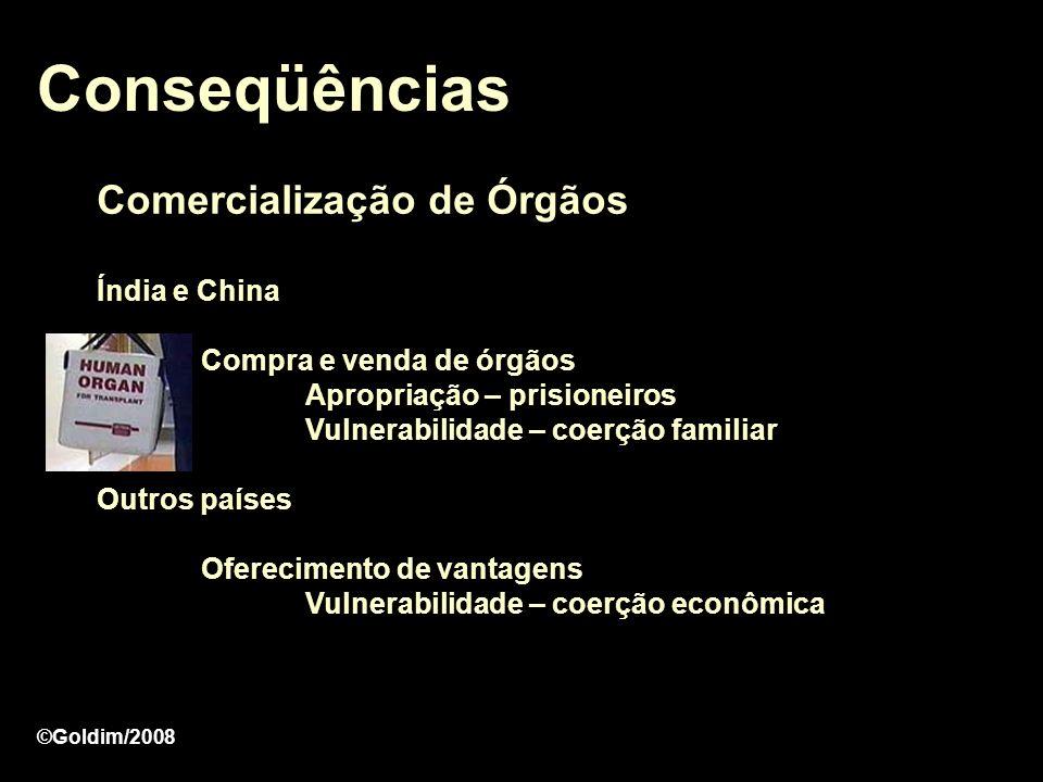 Conseqüências Comercialização de Órgãos Índia e China