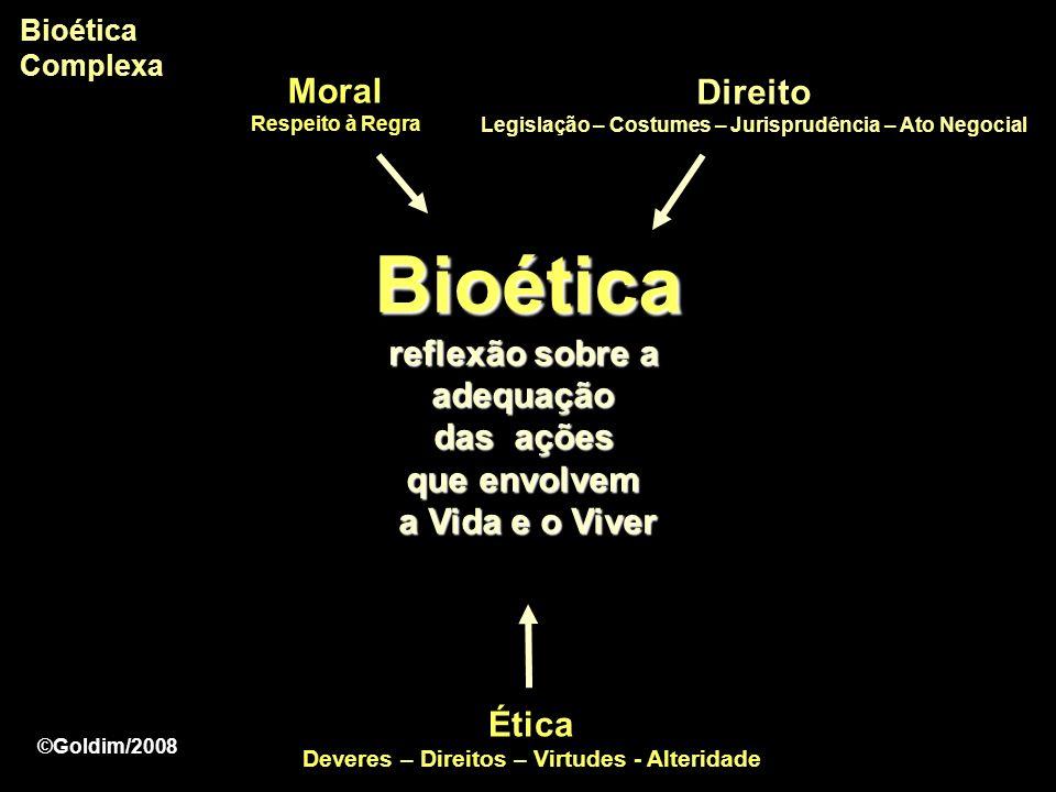 Bioética Complexa Moral Respeito à Regra. Direito. Legislação – Costumes – Jurisprudência – Ato Negocial.