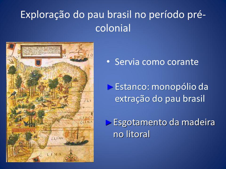 Exploração do pau brasil no período pré-colonial
