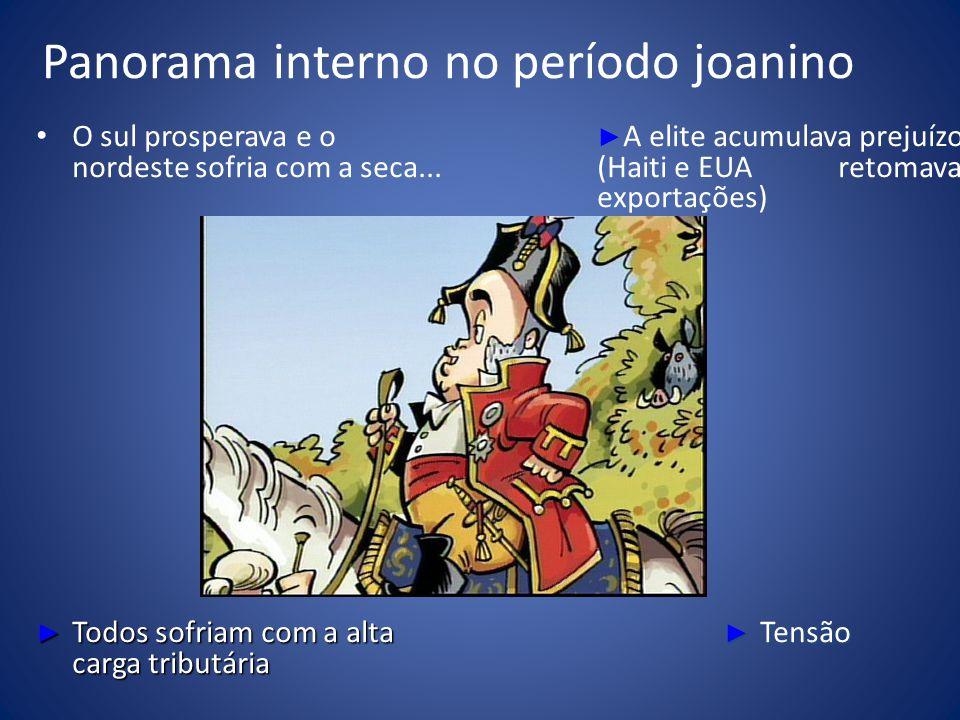 Panorama interno no período joanino