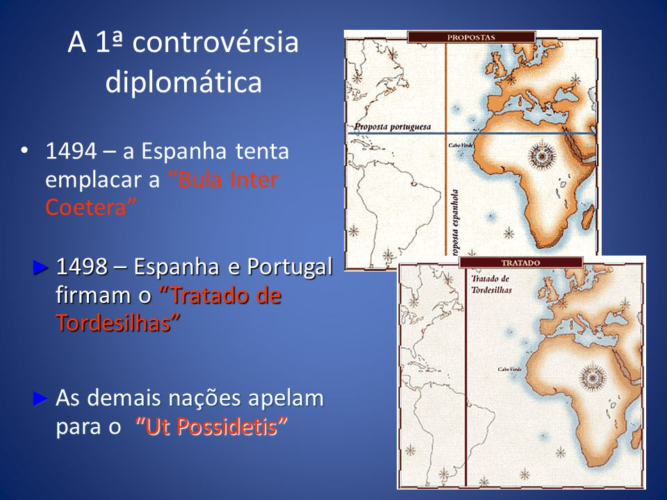 A 1ª controvérsia diplomática