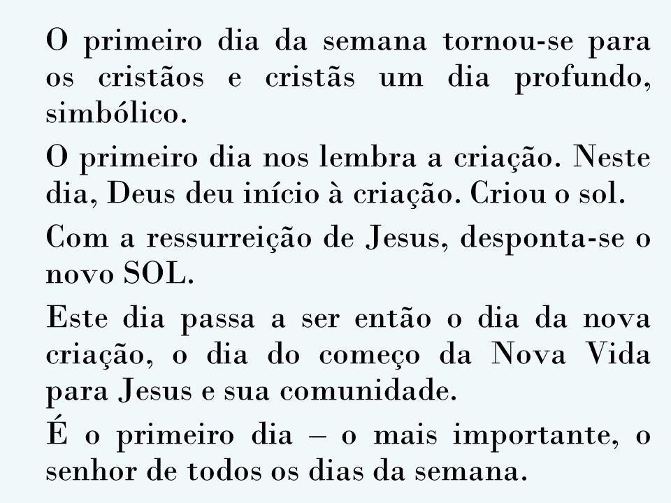 Com a ressurreição de Jesus, desponta-se o novo SOL.