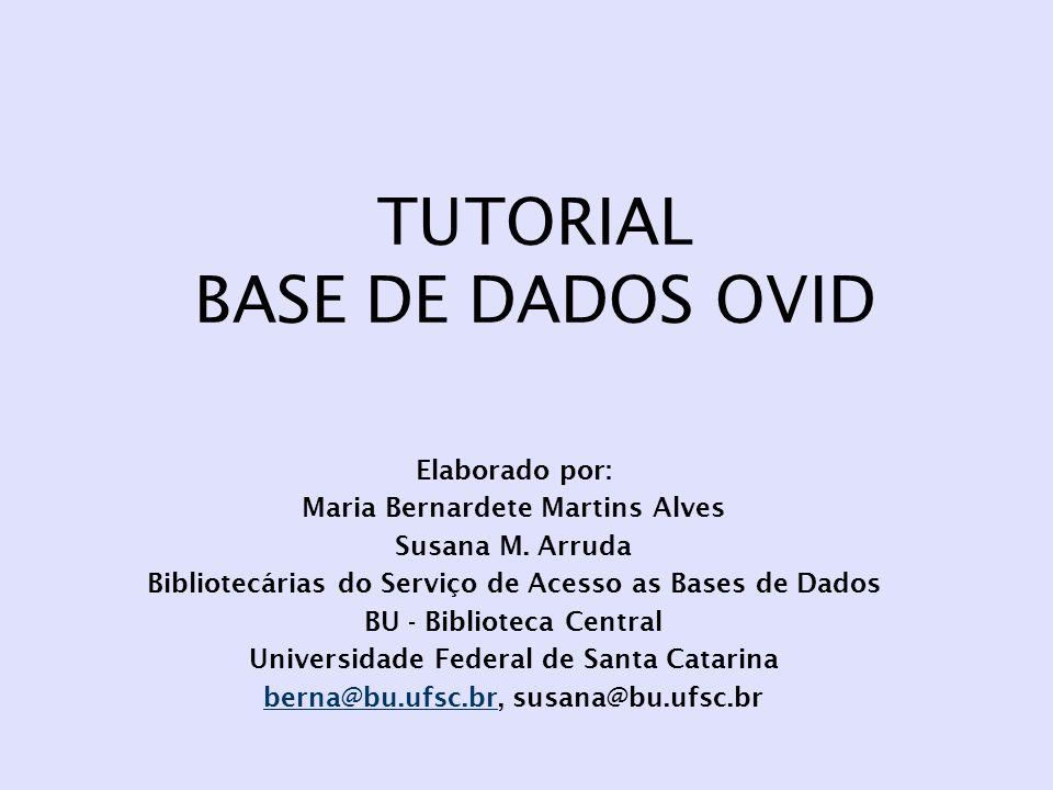 TUTORIAL BASE DE DADOS OVID