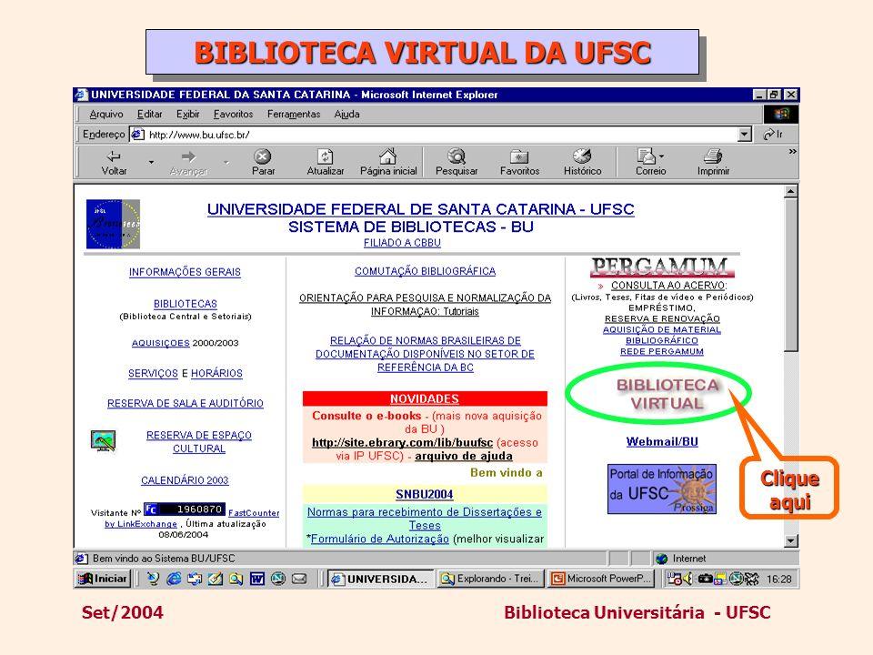 BIBLIOTECA VIRTUAL DA UFSC
