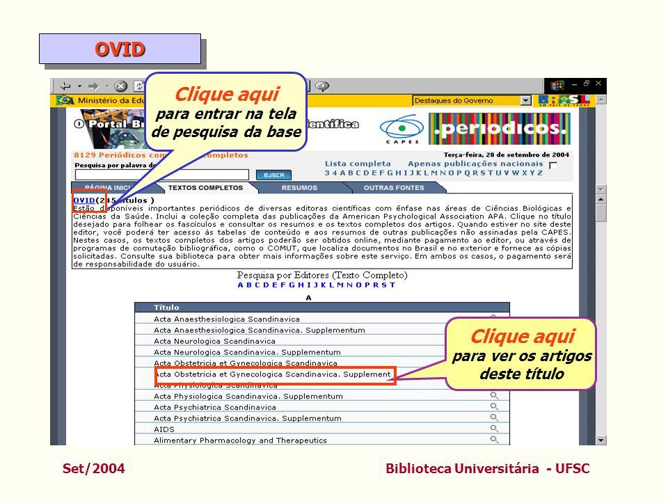OVID Clique aqui Clique aqui