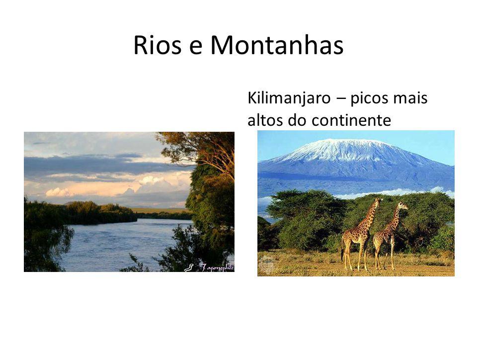 Rios e Montanhas Kilimanjaro – picos mais altos do continente
