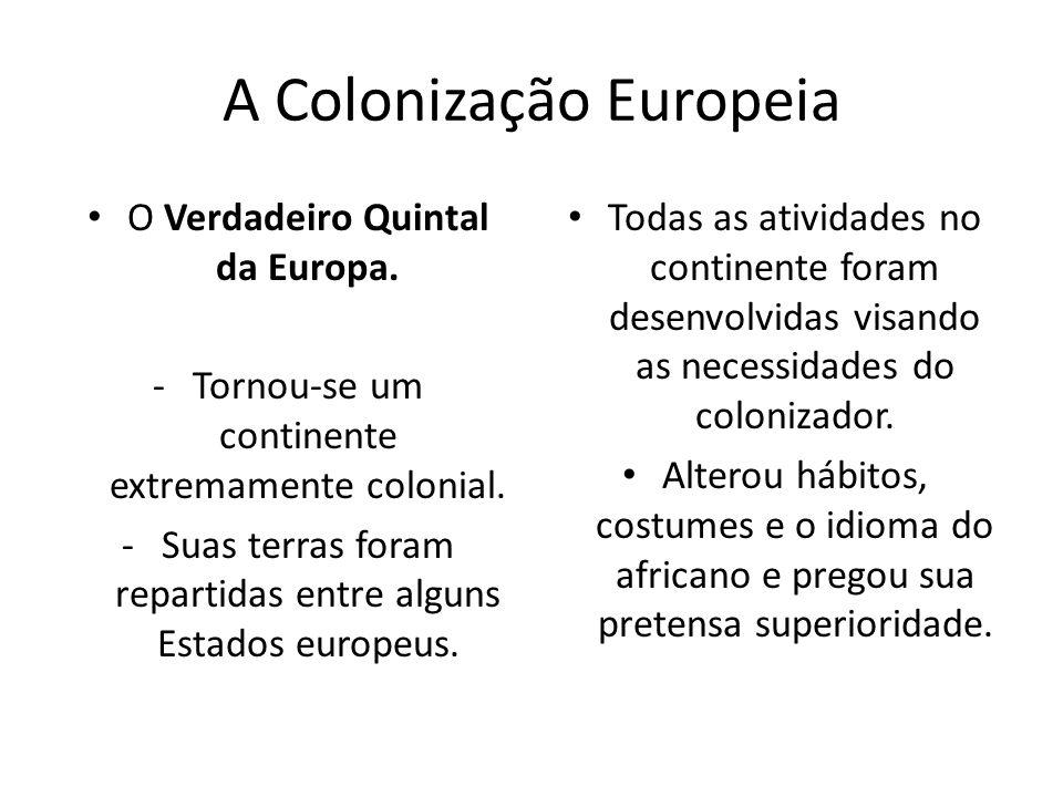 A Colonização Europeia