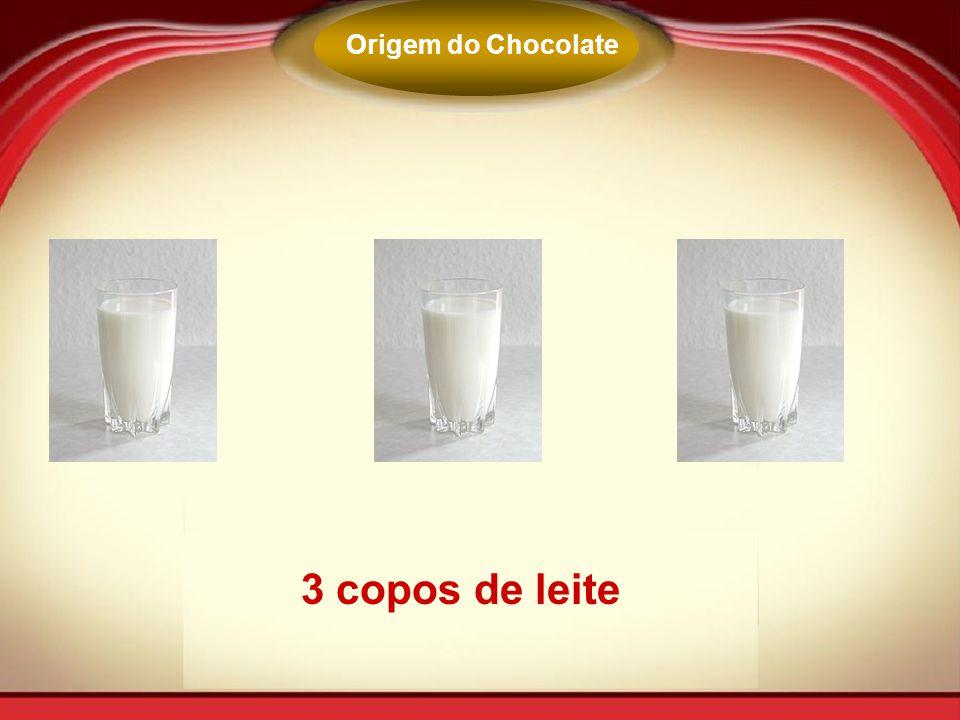 Origem do Chocolate 3 copos de leite