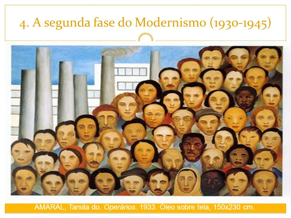 4. A segunda fase do Modernismo (1930-1945)