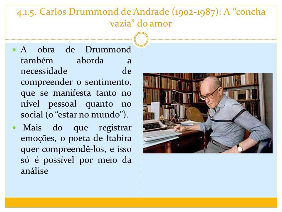 4.1.5. Carlos Drummond de Andrade (1902-1987): A concha vazia do amor