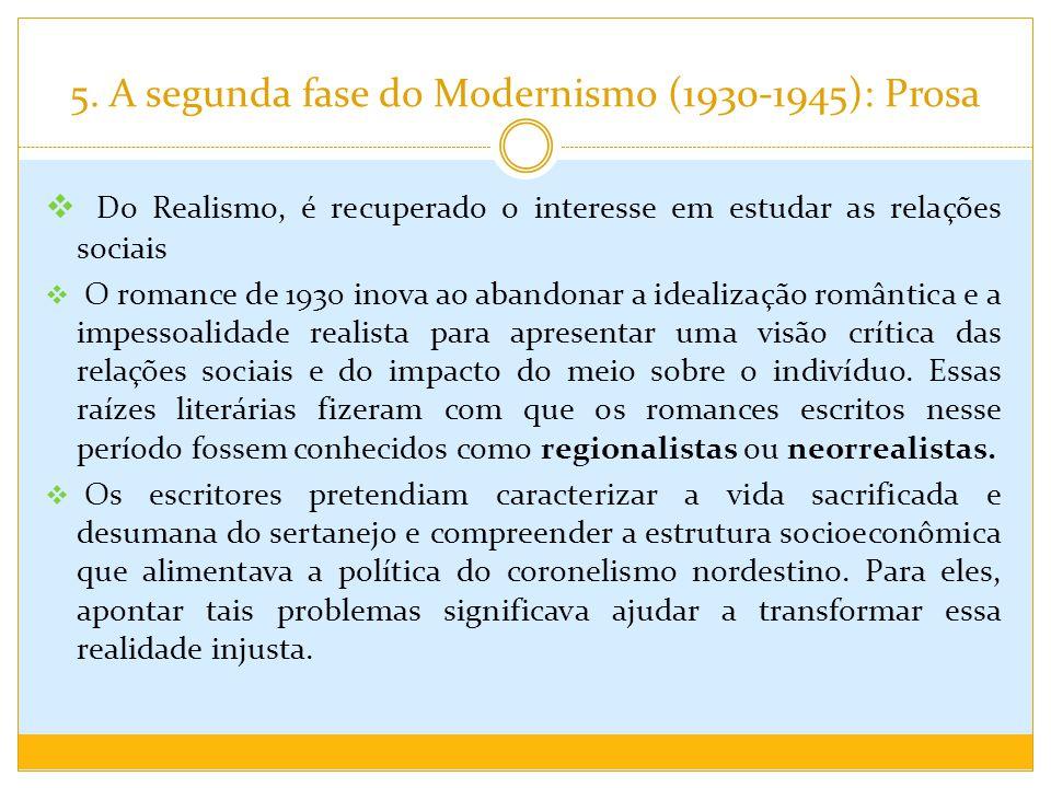 5. A segunda fase do Modernismo (1930-1945): Prosa