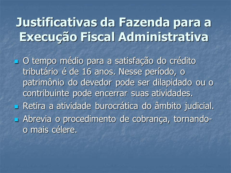 Justificativas da Fazenda para a Execução Fiscal Administrativa