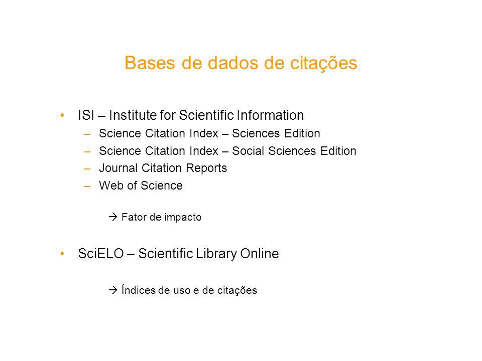 Bases de dados de citações