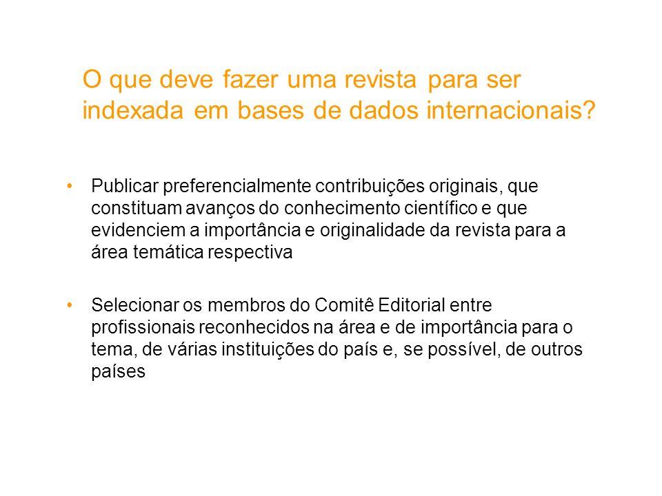 O que deve fazer uma revista para ser indexada em bases de dados internacionais