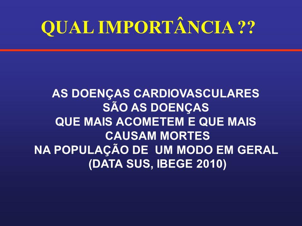 QUAL IMPORTÂNCIA AS DOENÇAS CARDIOVASCULARES SÃO AS DOENÇAS