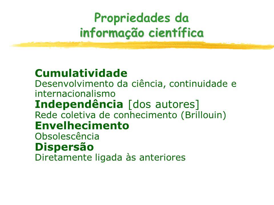 Propriedades da informação científica