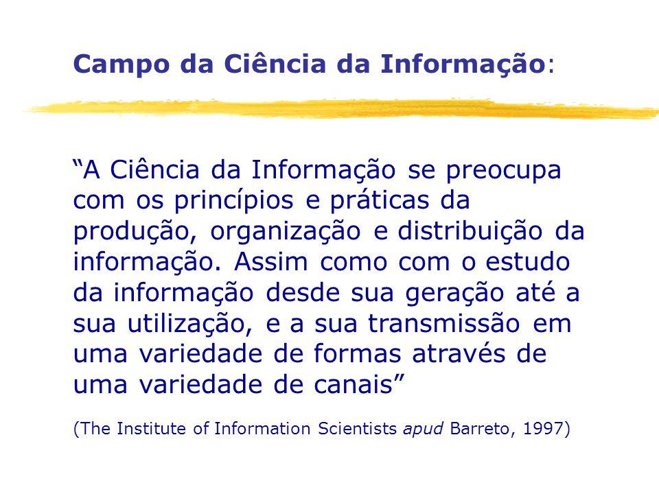 Campo da Ciência da Informação: