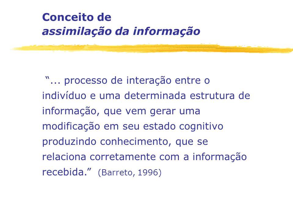 Conceito de assimilação da informação