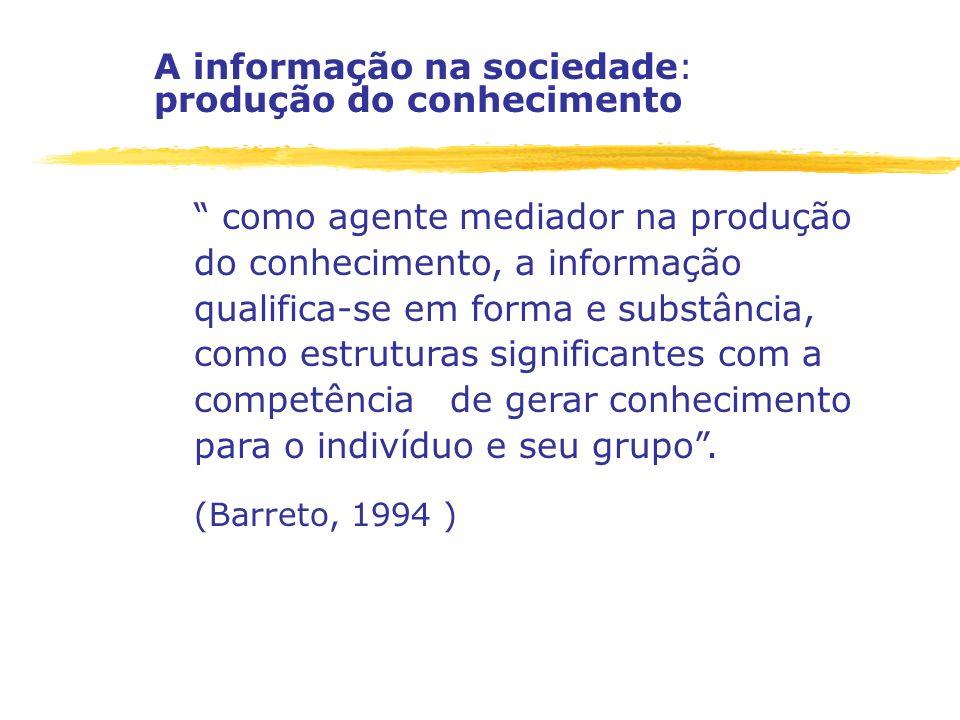 A informação na sociedade: produção do conhecimento