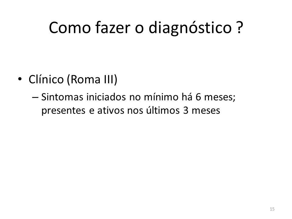 Como fazer o diagnóstico