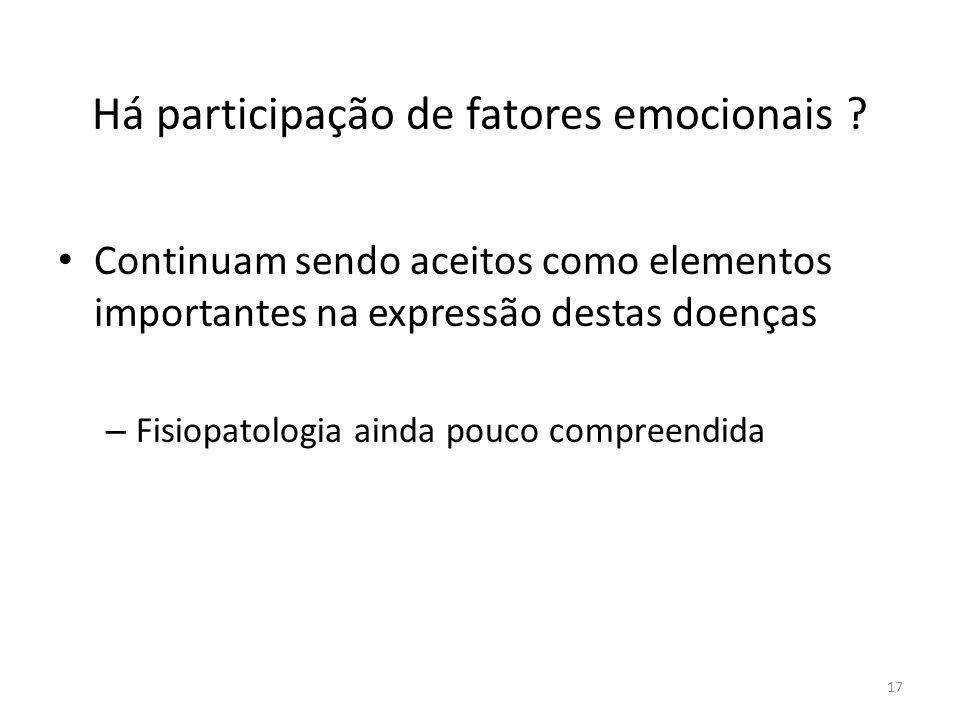 Há participação de fatores emocionais