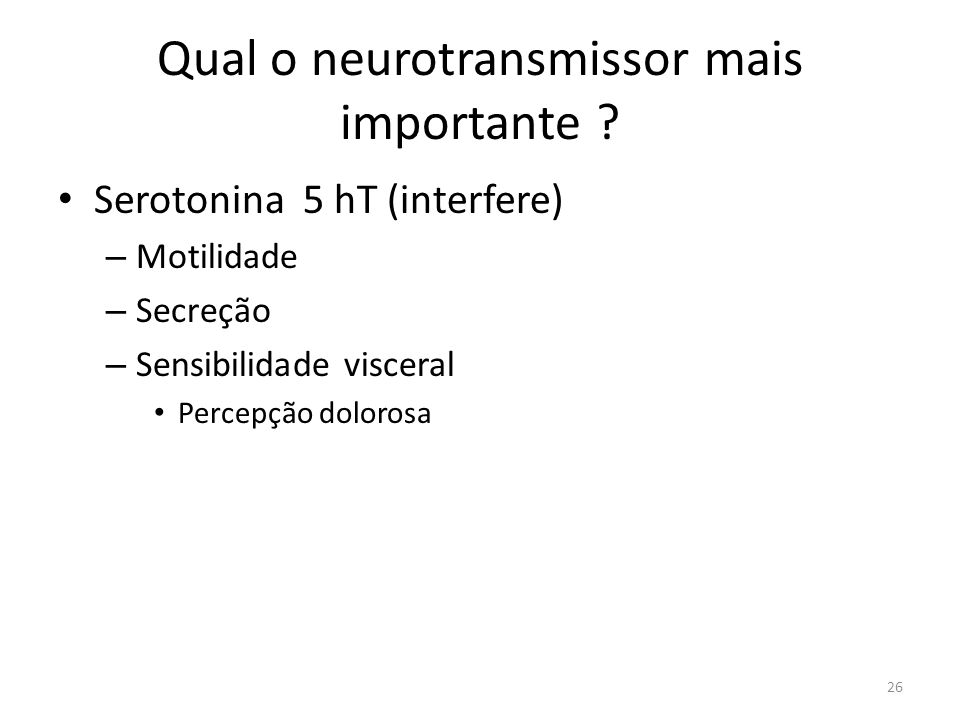 Qual o neurotransmissor mais importante