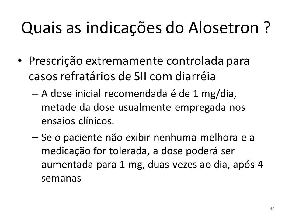 Quais as indicações do Alosetron