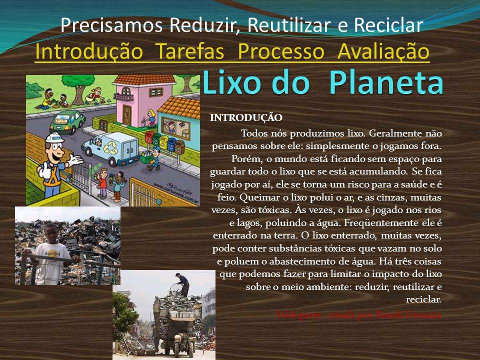 Lixo do Planeta Introdução Tarefas Processo Avaliação