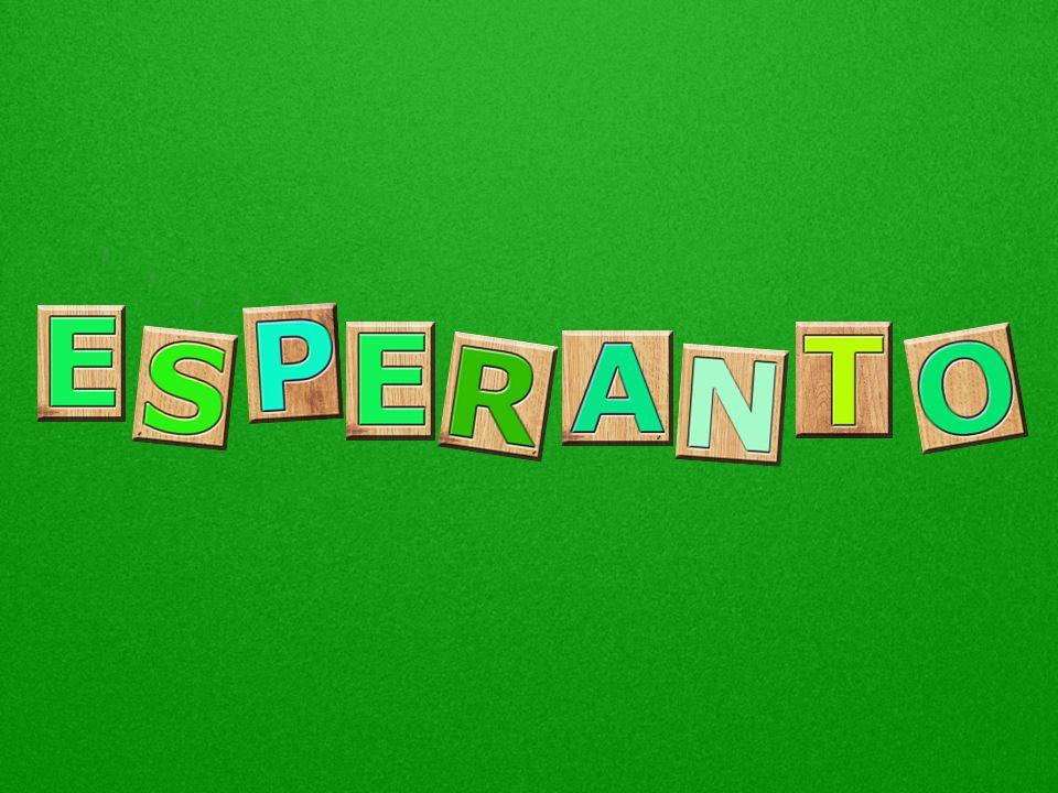 O esperanto é uma língua internacional planejada, falada por cerca de 2 milhões de pessoas. Todos
