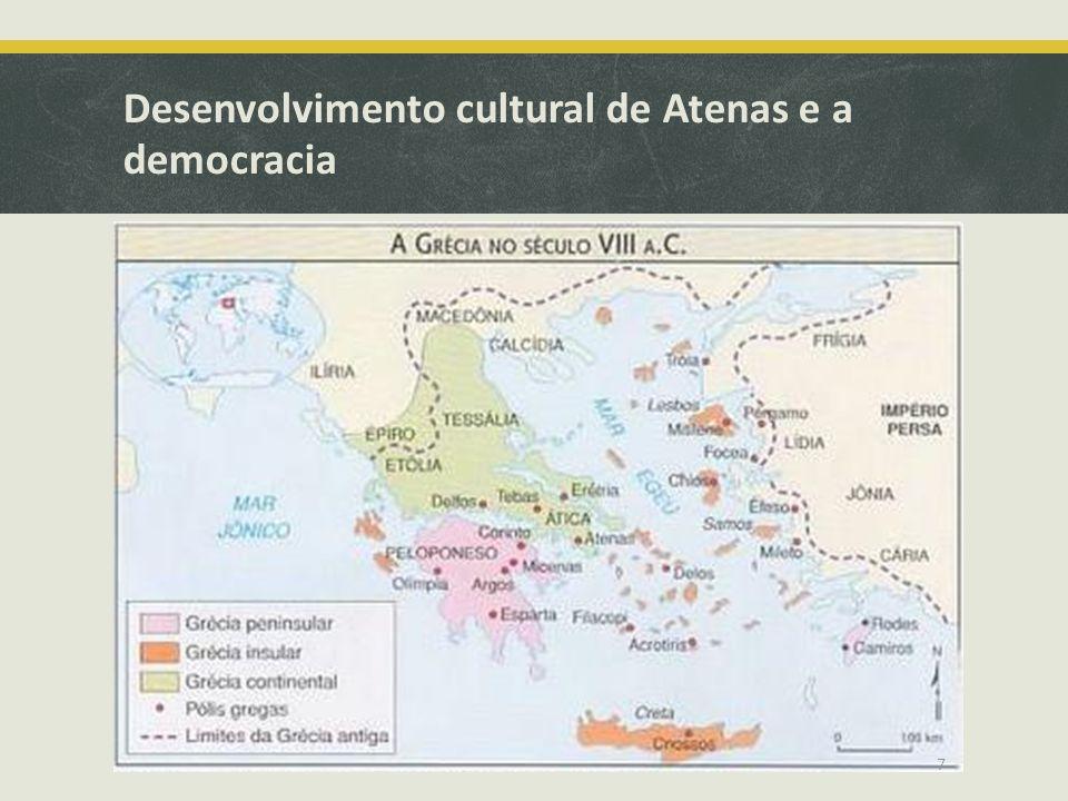 Desenvolvimento cultural de Atenas e a democracia