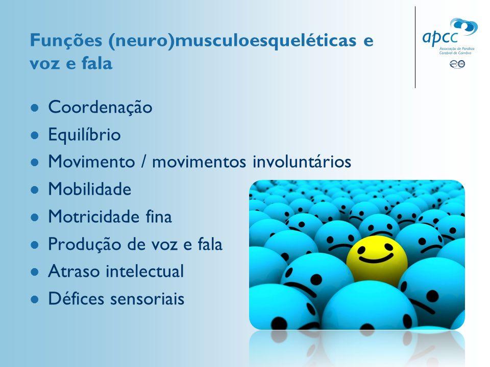Funções (neuro)musculoesqueléticas e voz e fala