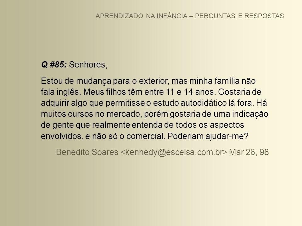 Benedito Soares <kennedy@escelsa.com.br> Mar 26, 98