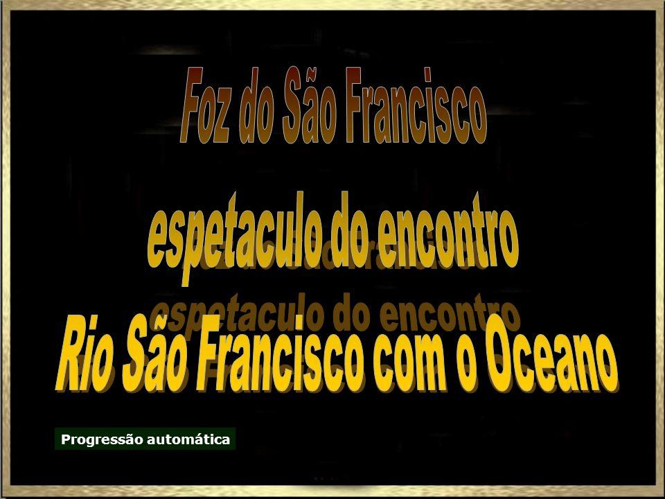 espetaculo do encontro Rio São Francisco com o Oceano